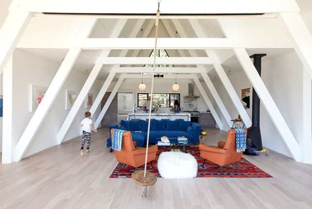 a-frame houses are back in